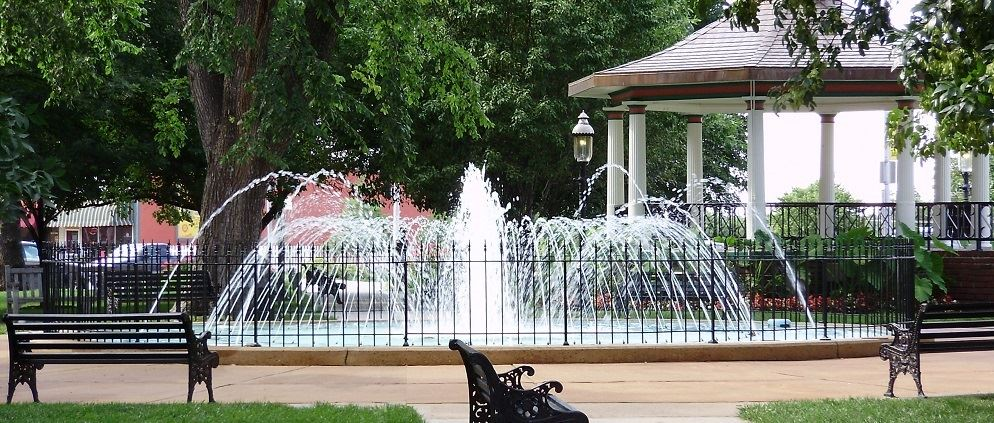 Fountain and Gazebo 1000x420