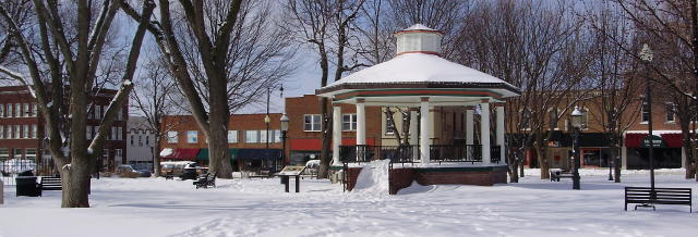 Park Square in Winter