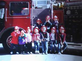 Kids by Fire Truck